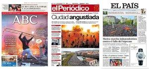Prensa de hoy: Las portadas de los periódicos del sábado 19 de septiembre del 2019