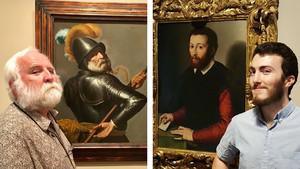 El profesor canadiense Ross W. Duffin (izquierda) y foto de Eric Brockman cedida por el Dayton Art Institute.