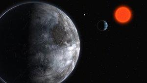 Recreación de la estrella Gliesi 581, uno de los primeros sistemas con posibilidad de albergar agua.