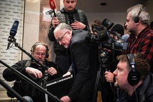 El responsable de la RUSADA, Yuri Ganus, en una rueda de prensa