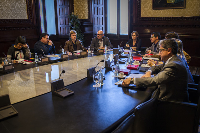 Reunión de la Mesa del Parlament de hace unas semanas.