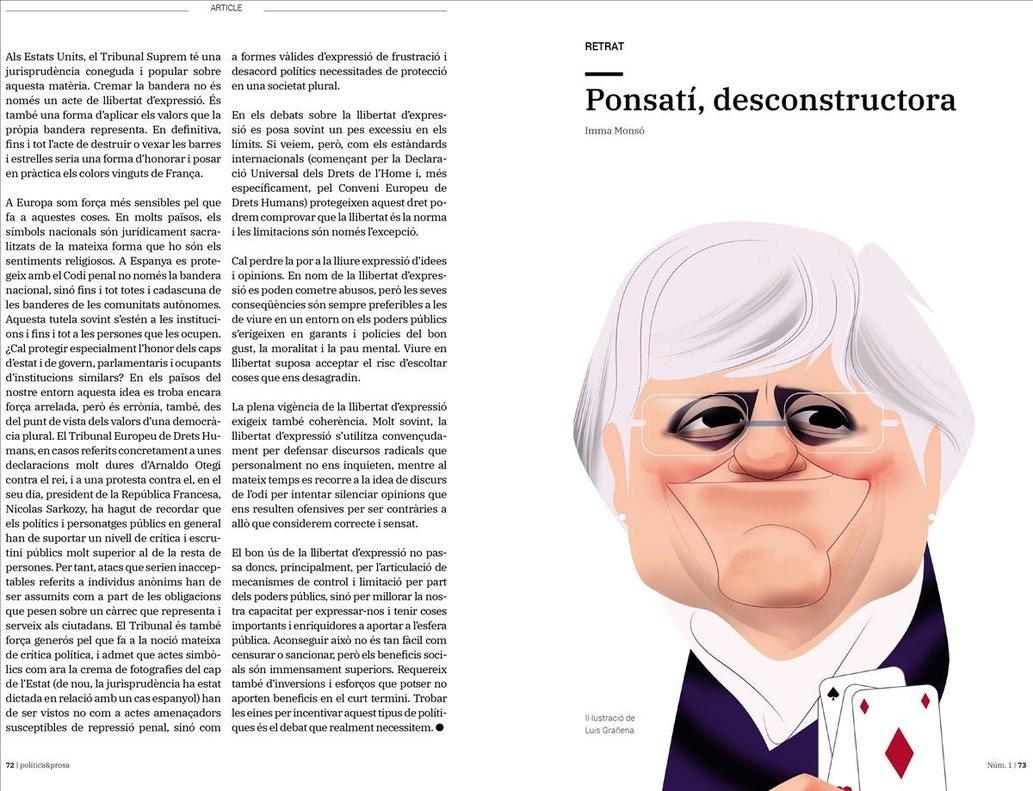Una de las páginas de la nueva publicación 'Política & Prosa'.
