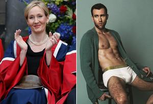 J. K. Rowling i Matthew Lewis han mantingut una divertida conversa arran de les fotos de l'actor a 'Attitude'.