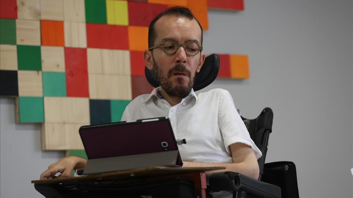 El portavoz de Unidos Podemos, Pablo Echenique, en una imagen de archivo.