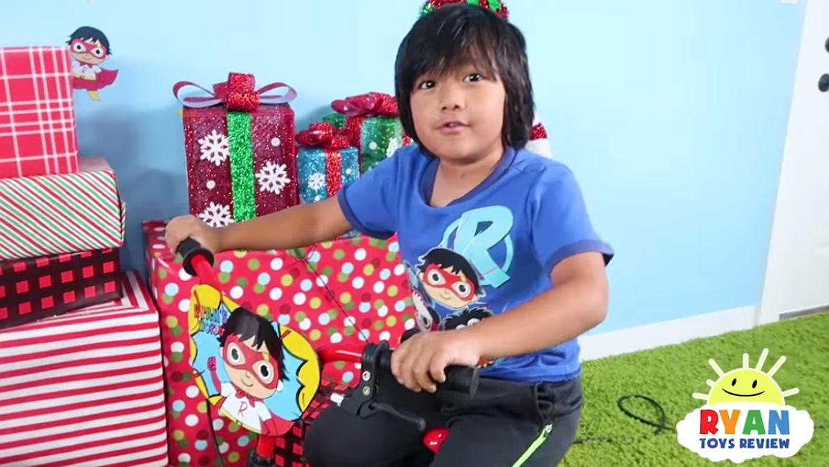 Ryan, que acaba de cumplir 7 añitos, es el 'youtuber' que más ganó este 2018.