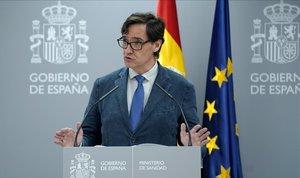 Salvador Illa, en rueda de prensa.
