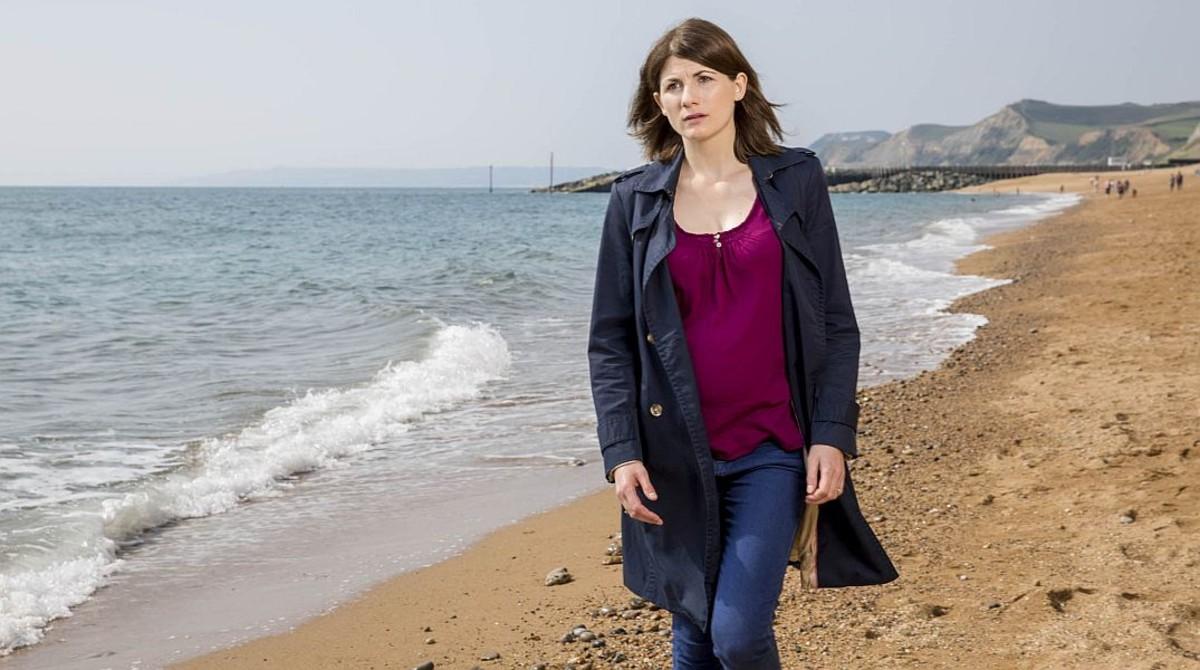 Jodie Whittaker, en una escena de la serie 'Broadchurch'.
