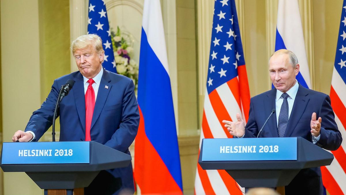 Trump y Putin, este lunes, en el Palacio Presidencial de Helsinki.