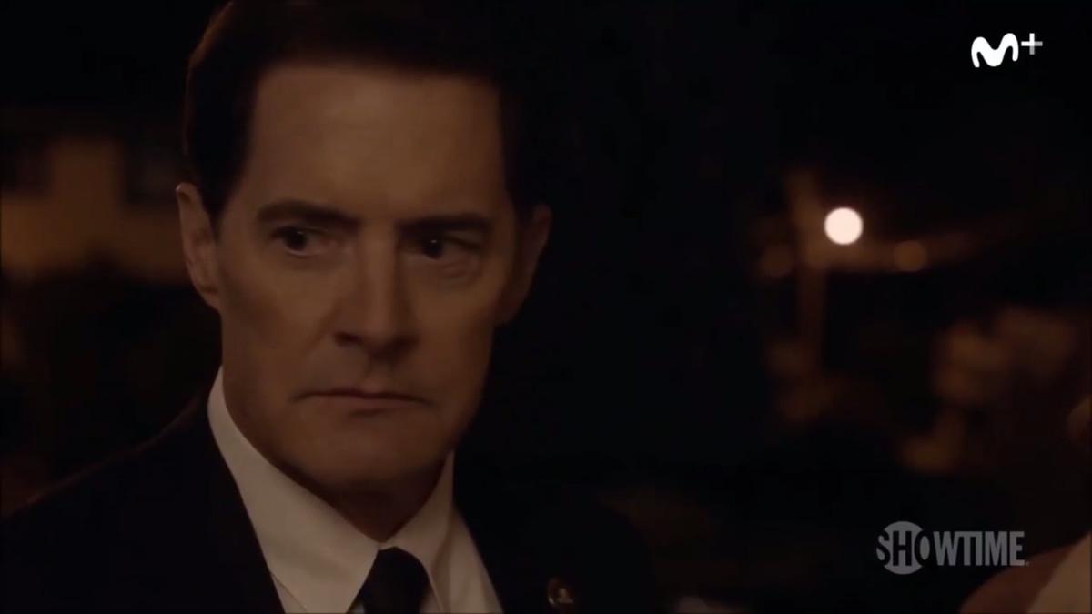 El actorKyle MacLachlan, que encarna alagente especialDale Cooper, en una imagen de la nueva entrega de la serie Twin Peaks.