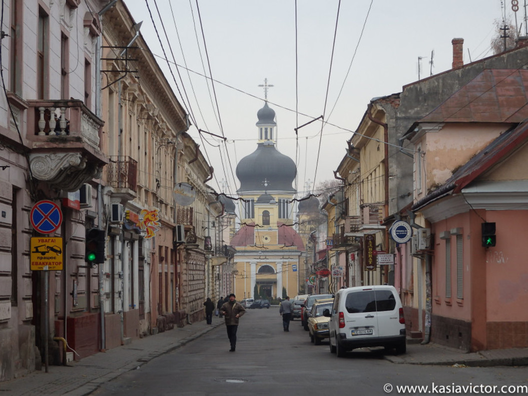 Una calle ucraniana.