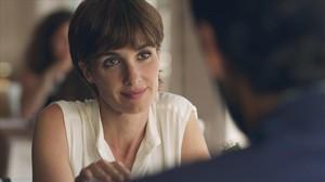 La actriz Paz Vega, en una secuencia de la serie de Tele 5 'Perdóname, señor'.