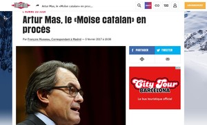 El judici a Mas, Rigau i Ortega ocupa un lloc destacat en la premsa europea