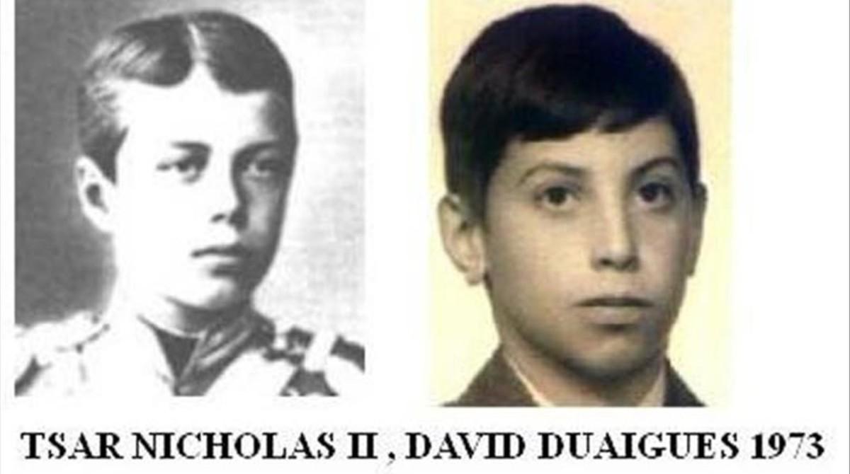 El zar Nicolás II y David Duaigües.