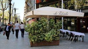Restaurante La Tagliatella, en la avenida Diagonal de Barcelona.