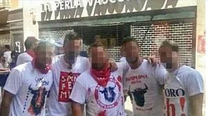 Los cinco miembros de La Manada en Sanfermines
