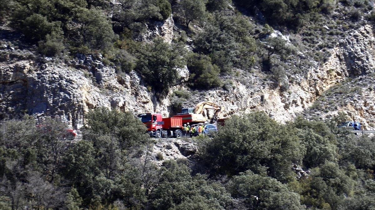 Recuperats dos cossos sense vida atrapats per l'esllavissada al Pallars Jussà