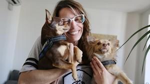 Andrea Prada: «A Catalunya hi ha mooolts gossos polítics»