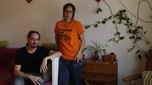 Alpha y Fran, en sju piso de Floridablanca, 60, esta mañana.