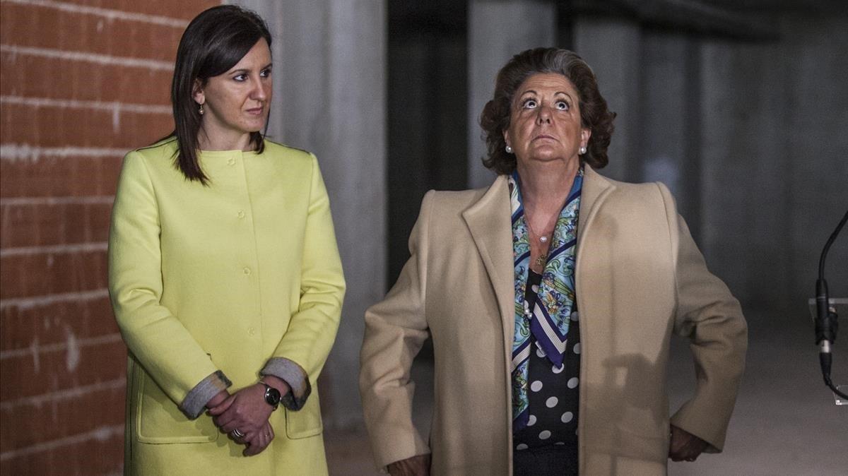 Barberá y Catalá juntas en una imagen de archivo cuando la primera era alcaldesa de València y la segunda consellera de cultura
