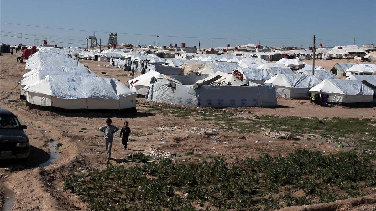 El campo de desplazados Al-Hol en la región siria de Hasaka.