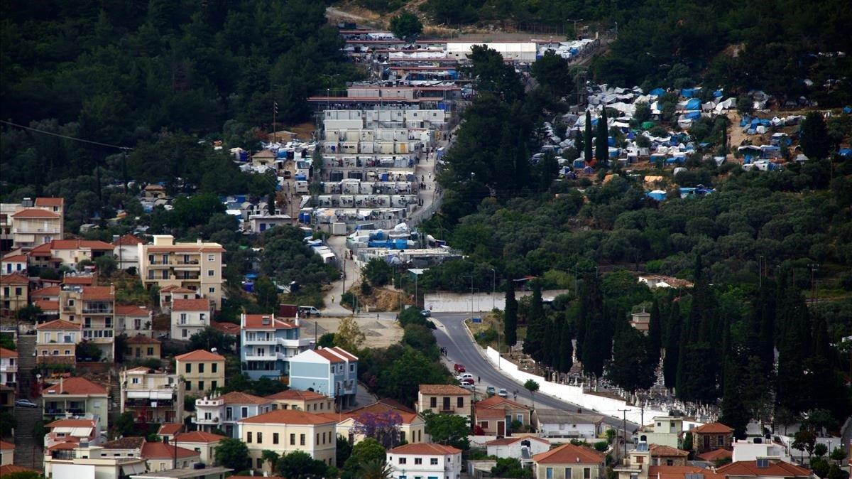 Campo de refugiados en la isla de Samos (Grecia).