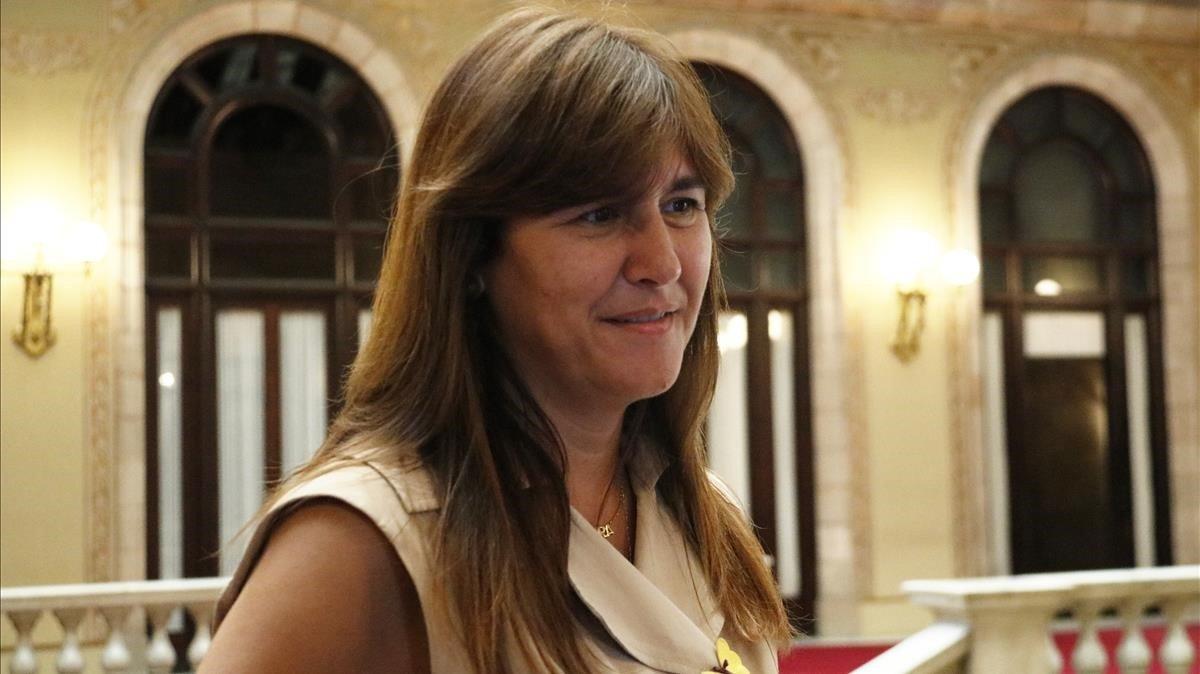 La diputada Laura Borràs, en el Parlament.