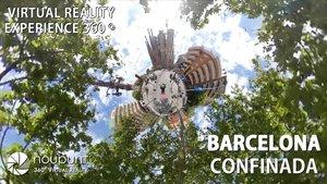 La Barcelona del último día de confinamiento total, el 12 de abril, en 360 grados / MARTÍ FRADERA / NOUPUNT