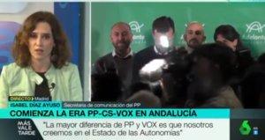 La vicesecretaria de comunicación del PP, Isabel Díaz Ayuso.