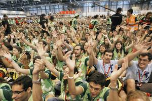Los 40.000 voluntarios de la organización de la XXVI Jornada Mundial de la Juventud esperan la llegada del Santo Padre