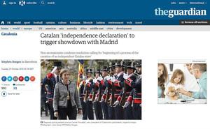 Información de la web de The Guardian sobre la propuesta de Junts pel Sí y la CUP.