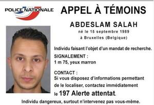 Abdeslam Salam, hermano de uno de los terroristas suicidas y buscado por la policía francesa por cómplice.