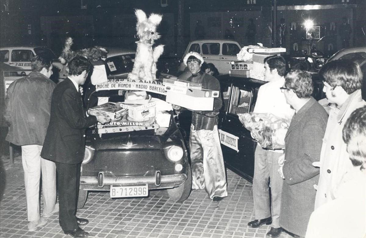 Imagen de la campaña 'Cap nen sense joguina', en los años 70.