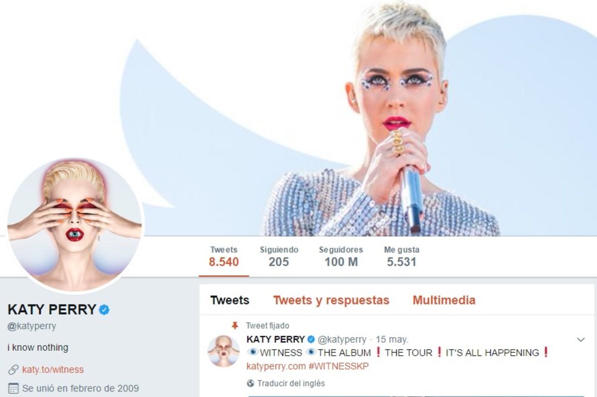 Katy Perry, Primera Persona Con 100 Millones De Seguidores
