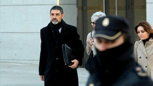El exjefe de los Mossos Josep Lluís Trapero en su última declaración en la Audiencia Nacional.