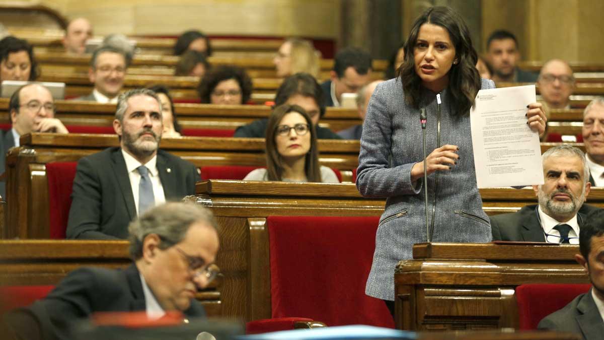 Agra bronca de Torra i Arrimadas al Parlament | Vídeo