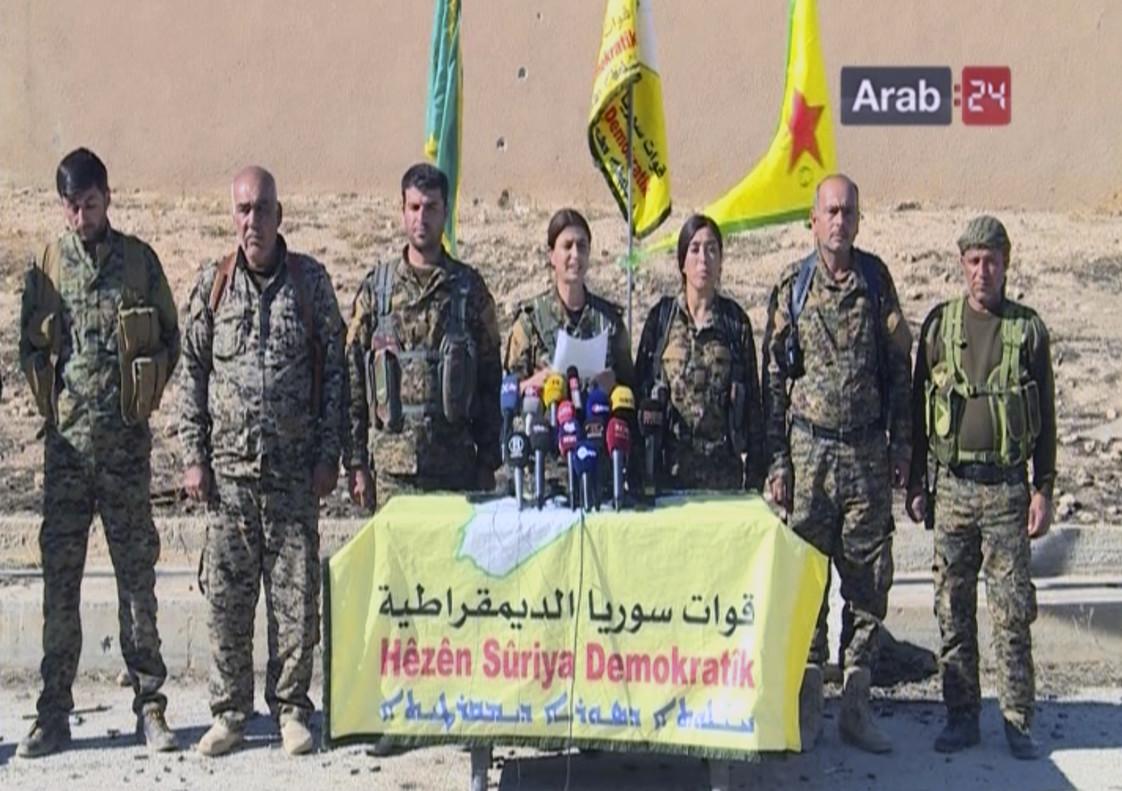 Anuncio de la ofensiva para liberar Raqqa.