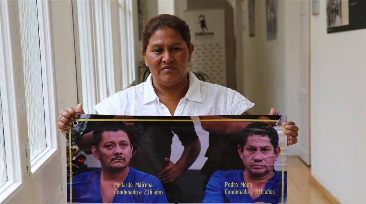 La activista nicaragüense Francisca Ramírez, en La Bonne, en Barcelona.