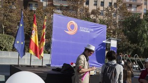 Acto de Societat Civil Catalana para conmemorar el Día de la Constitución, en Barcelona.