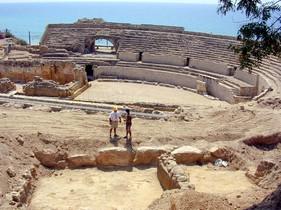 El anfiteatro romano de Tarragona.