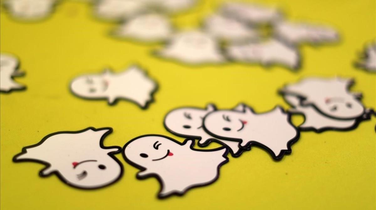 Imagen con el logo de Snapchat, una de las aplicaciones más en boga.