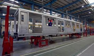 Aspecto de la factoría de Alstom en Santa Perpètua de Mogoda.