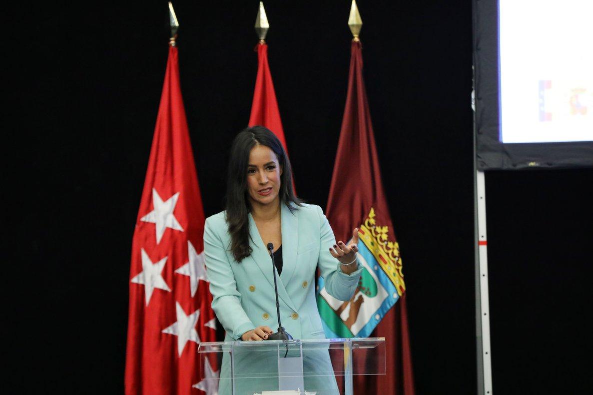 Begoña Villacís, vicealcaldesa del Ayuntamiento de Madrid, durante la inauguración de Madrid Foro Empresarial.