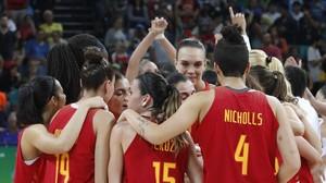 La selección femenina de baloncesto, medalla de plata en los Juegos de Río.
