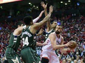 Gasol i els Raptors forcen l'empat davant dels Bucks