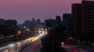 Caracas, a oscuras, ayer.