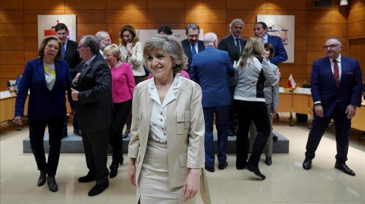 La ministra de Sanidad, María Luisa Carcedo, en el Consejo Interterritorial de Salud.