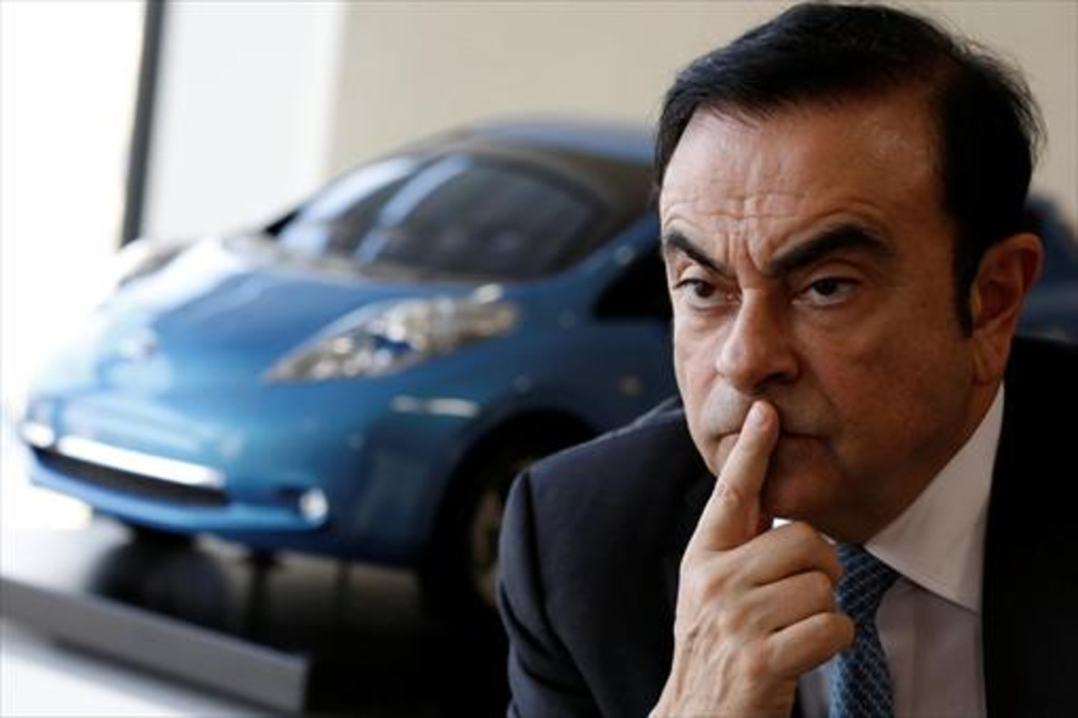 Carlos Ghosn, presidente de Renault, en una conferencia de prensa en Japón el pasado 23 de febrero.