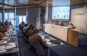 Rueda de prensa de la presentación de resultados del 2016 deCellnex.
