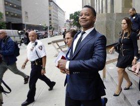 El actor Cuba Gooding Jr en la corte de Nueva York.