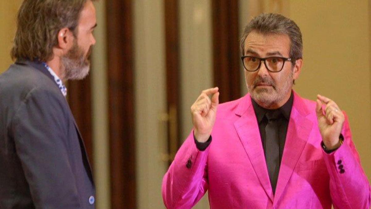 Xavier Sala i Martín con Tian Riba, en el programa Economia en colors, de TV-3.